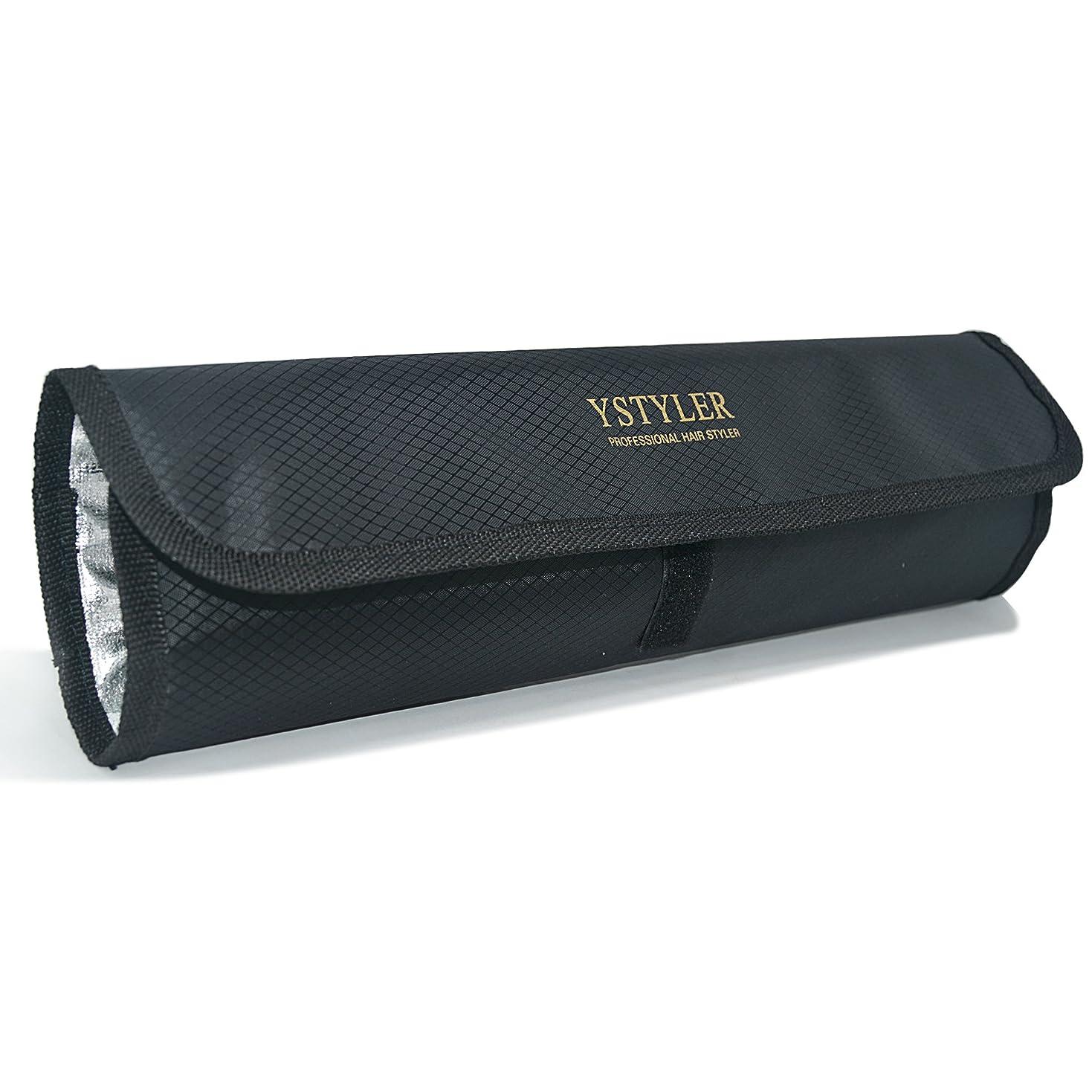 ロードされた暗唱する酸っぱいYSTYLER ヘアアイロン 専用耐熱ポーチ(ブラック) YSB-008B