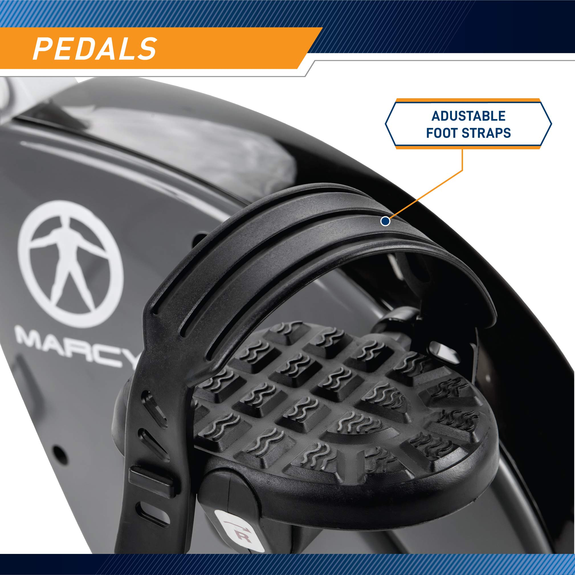 Marcy Foldable Upright Exercise Bike with Adjustable Resistance for Cardio Workout & Strength Training - Multiple Styles Available