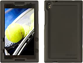 Bobj Rugged Case for Lenovo Tab S8-50 – BobjGear Custom Fit - Patented Venting - Sound Amplification - BobjBounces Kid Friendly (Bold Black)