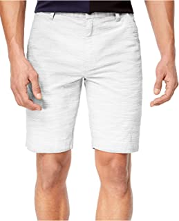 INC White Pure Mens US Size 38 Regular Fit Flat Front Chinos Shorts