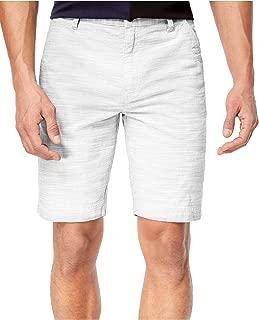INC International Concepts Men's Flat-Front Texture-Stripe Shorts