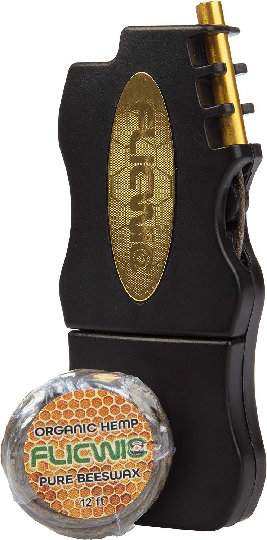 FlicWic Black and Gold Hemp Wick for Dispenser Case Selling Lighter Mini Choice