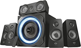 Trust Gaming GXT 658 Tytan 5.1 Luidsprekerset PC Speakers met Surround Sound en Subwoofer (180W, LED verlichting, PC en La...