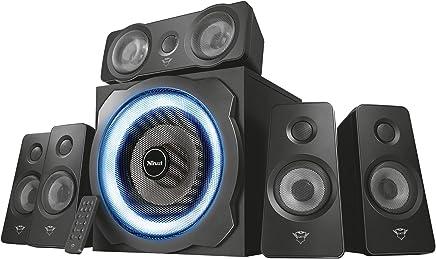 Trust Tytan Gaming GXT 658 Sistema Set di Altoparlanti Surround 5.1, con Subwoofer Illuminato LED Blu, Potenza Totale di 180 Watt, Nero - Trova i prezzi più bassi