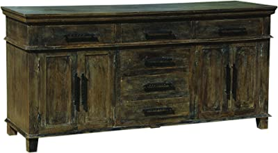 Yosemite Home Decor YFUR-HK1523 Antiqued Sideboard, Black Wash Finish