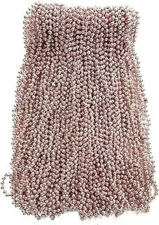 Champagne Light Pink Mardi Gras Beads 33 inch 7mm, 6 Dozen, 72 Necklaces