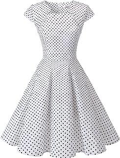 729ed72d42c Homrain Robe Femme Vintage de Soirée Cocktail Cérémonie années 1950s Style  Audrey Hepburn