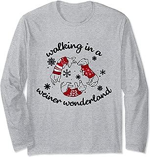 Wiener Dogs Wonderland Puppies Mom Dad Christmas Present Long Sleeve T-Shirt