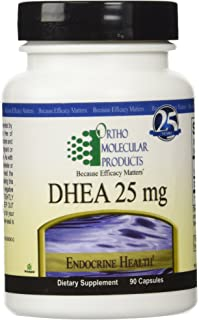 Ortho Molecular Products Dhea 25 Mg Capsules, 90 Count