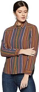 VERO MODA Women's Checkered Regular Fit Shirt