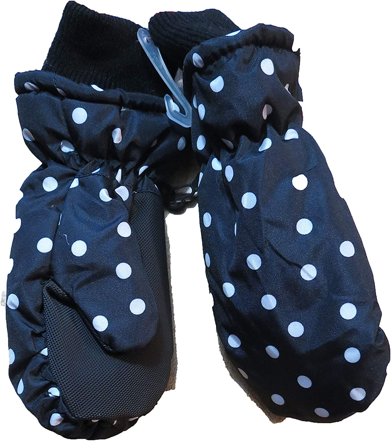 Cat & Jack Black polka dot Winter Mittens 3M thin sulate water resistant 2T-5T