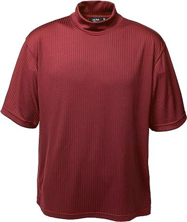 Akwa Men's Short Sleeve Dry Wicking Mock Turtleneck T-Shirt Shirt Made in USA