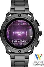 Diesel On Men's Axial Smartwatch- Powered with Wear OS by Google with Speaker, Heart Rate, GPS, NFC, and Smartphone Notifications.