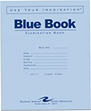 Roaring Spring Exam Book 8.5 x 7 Inches 6 Sheets/12 Pages Wide Ruled with Margin Blue Cover Sold as Pack of 50 Books (77511)
