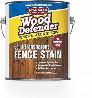 Wood Defender - Semi-Transparent Fence Stain- Rustic Oak- 1 Gallon