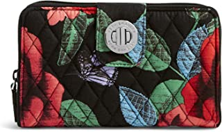 Women's Signature Cotton Turnlock Wallet with RFID Protection