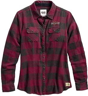 HARLEY-DAVIDSON Women's Genuine Laced Yoke Plaid Shirt, Plaid