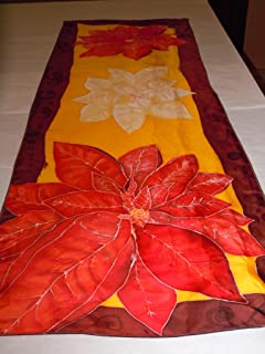 poinsettia silk scarf
