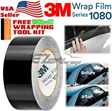 EZAUTOWRAP Free Tool Kit 3M 1080 Gloss Black Vinyl Wrap Kit for Black Out Chrome Delete Window Trim Door Trim 2