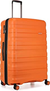 Antler Juno 2 4W Large Roller Suitcase Hardside, Orange, 81cm