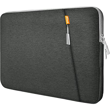 """JETech Laptop Sleeve Compatible for 13.3-Inch Notebook Tablet iPad Tab, Compatible with 13"""" MacBook Pro and MacBook Air,Waterproof Shock Resistant Bag Case with Accessory Pocket, Grey"""