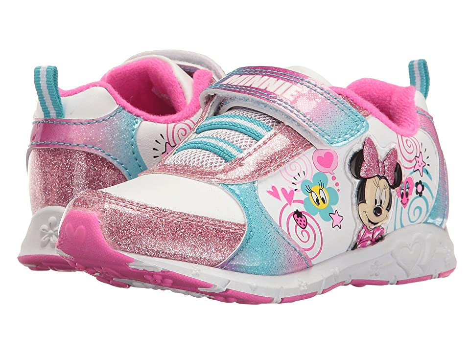 Josmo Kids Minnie Sparkle Sneaker (Toddler/Little Kid) (White/Multi) Girl