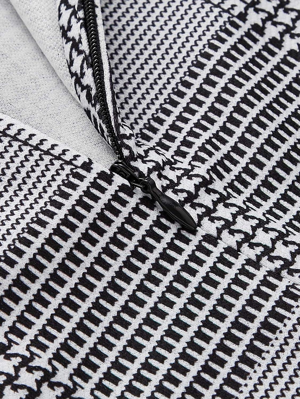 Romwe Womens Solid Print Elegant Bow Tie Neck Long Sleeve Work Office Blouse Top