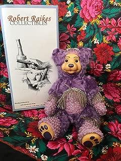 Robert Raikes Amethyst Febuary Birthday Bear Limited
