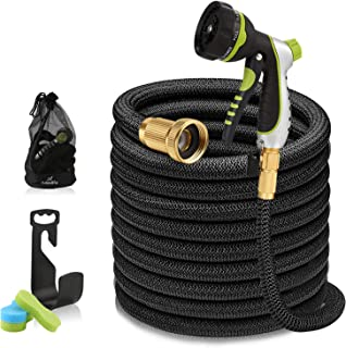 100ft Garden Hose - Expandable Water Hose with 13-Layer Latex Core, 3/4