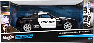 Maisto 2009 Nissan Gt-R (R35) Police Car Black And White 1/24 Diecast Model By