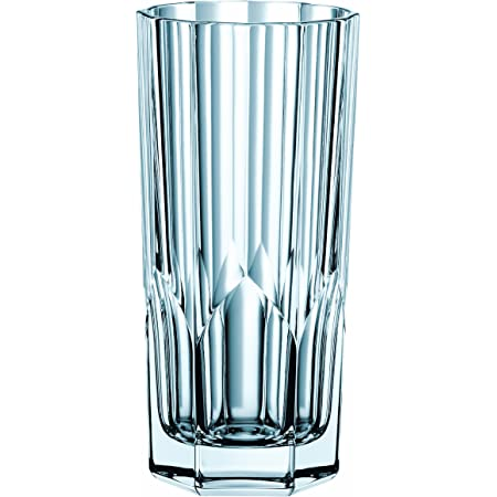 Amazon Com Nachtmann Aspen Crystal Long Drink Glasses Set Of 4 Old Fashioned Glasses Mixed Drinkware Sets