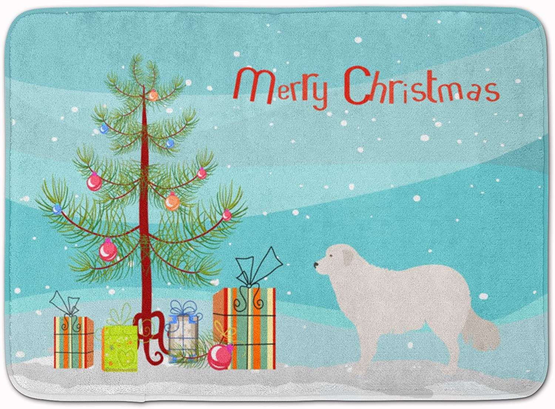 Caroline's Treasures Kuvasz Christmas Floor Mat, BB8467RUG, Multicolor, 19hx27w