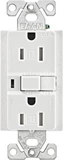 Eaton TRAFCI15W 15 Amp Tamper Resistant AFCI Receptacle, White Finish