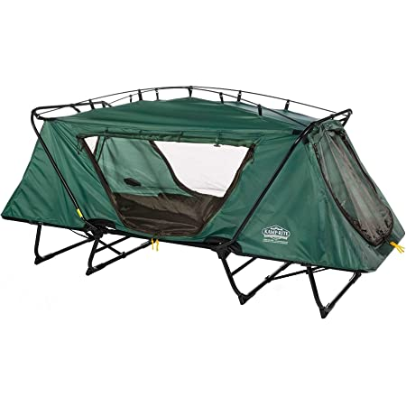 MISC Green Camp Cot Camping Folding Compact Tent Cot Portable Bed Rainfly Collapsible Lightweight Carry Bag Storage Contemporary Black, Steel Polyester Nylon