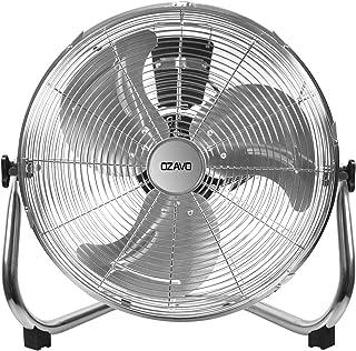 OZAVO Ventilador de Suelo Máquina de Viento Ventilador Sobremesa 80W, 50CM