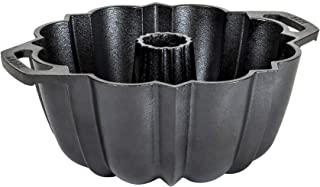Lodge Legacy Series - Seasoned Cast Iron Fluted Cake Pan with Assist Handles