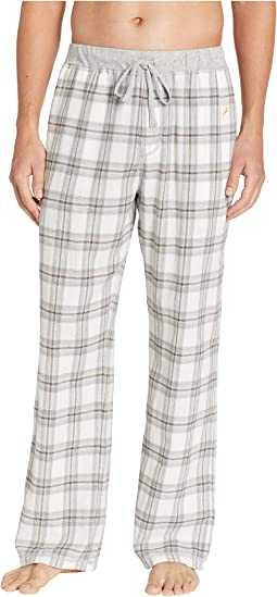 Dakota Plaid Flannel Pajama Pants with Heather Trim