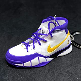 Air Zoom Kobe 1 I Protro Close Out White Purple PE OG Sneakers Shoes 3D Keychain 1:6 Figure