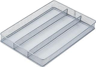 Honey-Can-Do KCH-02157 Steel Mesh 3-Compartment Cutlery Utensil Organizer, Silver