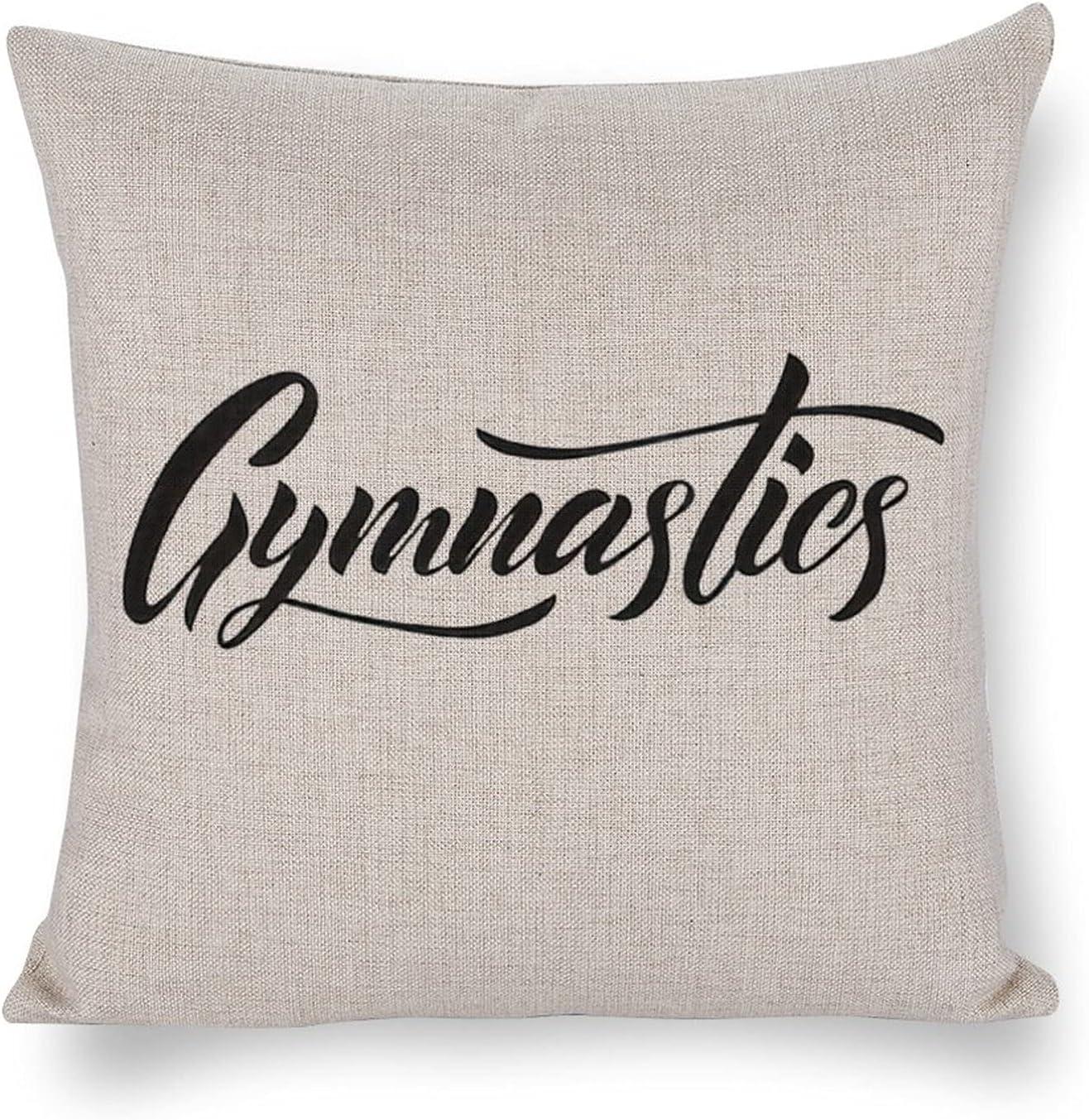 UTF4C Gymnastics Cotton Store Linen Sofa Cushion D Design Home Bed Under blast sales Art