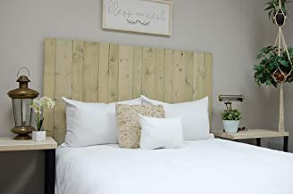 Driftwood Headboard King Size Stain, Hanger Style, Handcrafted. Mounts on Wall. Easy Installation