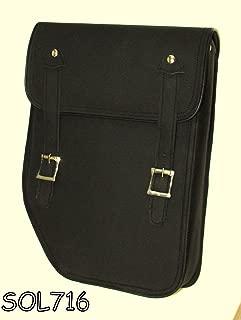 Black Leather Dyna Motorcycle Solo Bag for Harley Davidson Dyna SOL716