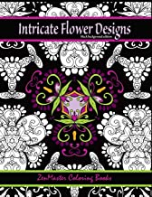Intricate Flower Designs Black Background Edition: Adult Coloring Book with floral kaleidoscope designs (Coloring books for grownups) (Volume 30)
