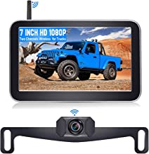 DoHonest V29 HD 1080P Digital Wireless Backup Camera 7'' Split Screen Monitor for Trucks,Cars,Campers,Vans, Observation Sy... photo