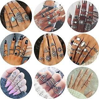 Adramata 43 Pcs Vintage Knuckle Rings Women Girls Stackable Midi Finger Ring Set