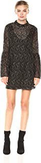 BCBGeneration Women's Metallic Bell Sleeve Dress