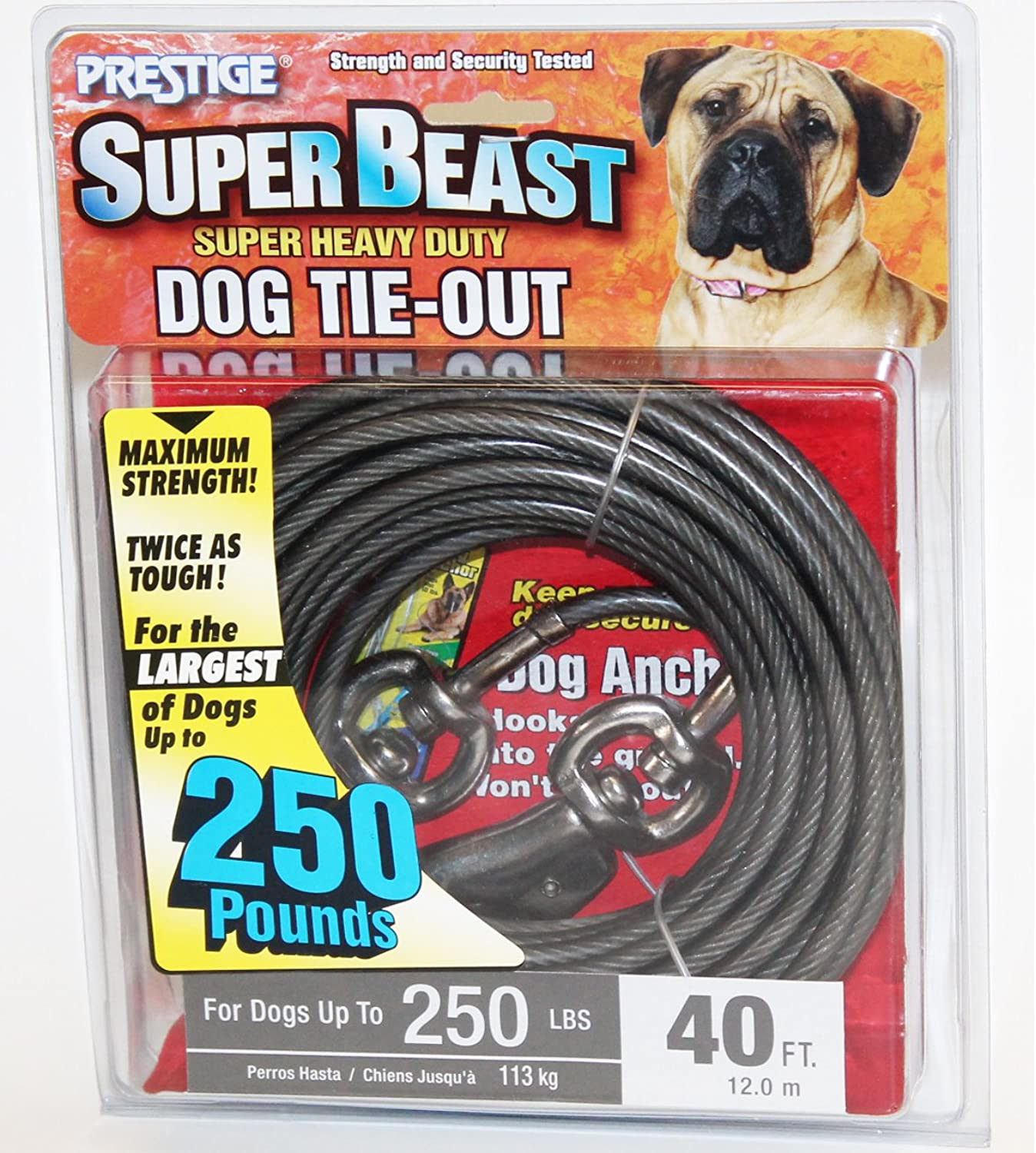 40' Super Beast Heavy Duty Tieout for Dogs up to 250lbs