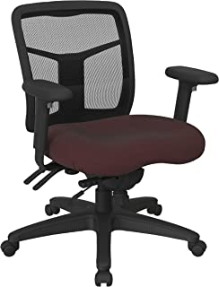 Office Star ProGrid Mid Back Manager's with Adjustable Height, Multi-Function Tilt Control and Seat Slider, Icon Burgundy ...