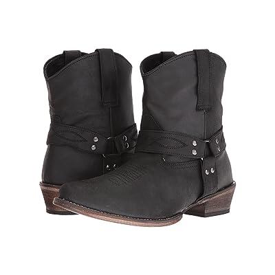 Roper Harness (Black Split Crazy) Cowboy Boots