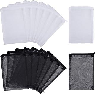 MyfatBOSS Filter Media Bags - High Flow - 16 PCS Aquarium Mesh Media Filter Bags, Nylon Media Filter Net Bags with Zipper ...